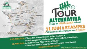 Tour ALTERNATIBA à Etampes les 9, 10 et 11 juin