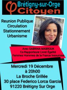 Réunion publique Circulation Stationnement Urbanisme